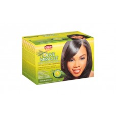 African Pride Olive Miracle Conditioning Anti-Breakage Hair Relaxer, 1 kit regular.
