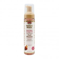 AFRICAN PRIDE MOISTURE MIRACLE ROSE WATER & ARGAN OIL SOFT & SMOOTH CURL MOUSSE 8.5oz