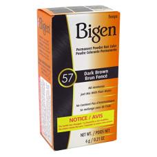 Bigen #57 Dark Brown Permanent Powder Hair Color