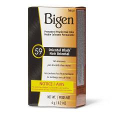 Bigen #59 Oriental Black Permanent Powder Hair Color