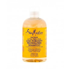 Shea Moisture Baobab & Tea Tree Oils Low Porosity Protein-Free Shampoo (13 oz.)